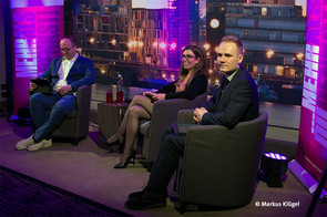 Verabschiedeten sich aus der LJL: Thomas Stiels, Valentina van Dornick und Aljoscha Zils © Markus Klügel