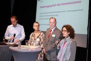 v.l.n.r.: Ansgar Günthers, Ute Simon, Peter Brunn und Anusch Melkonyan